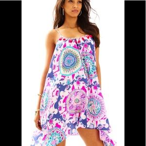 Lilly Pulitzer Rooney Silk Dress XL -New With Tags